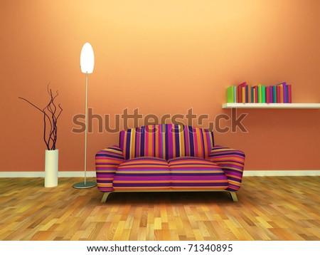Contemporary interior design. - stock photo