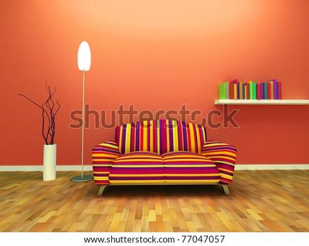 Contemporary interior design - stock photo