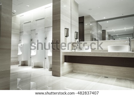 Contemporary Interior Of Public Toilet Part The Luxury Hotel
