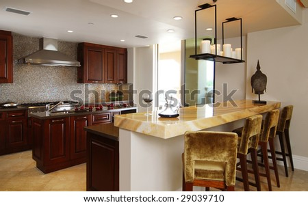 Contemporary Kitchen and Bar