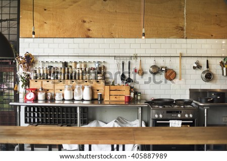 Contemporary Kitchen Appliance Cooking Spices Concept - stock photo