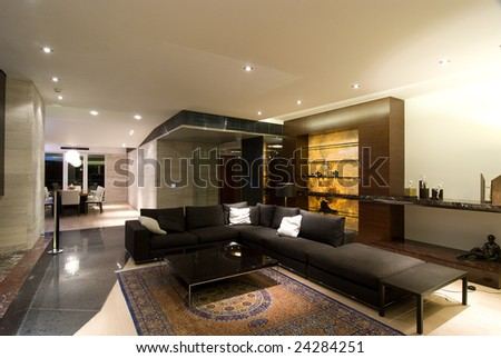 contemporary loft - stock photo