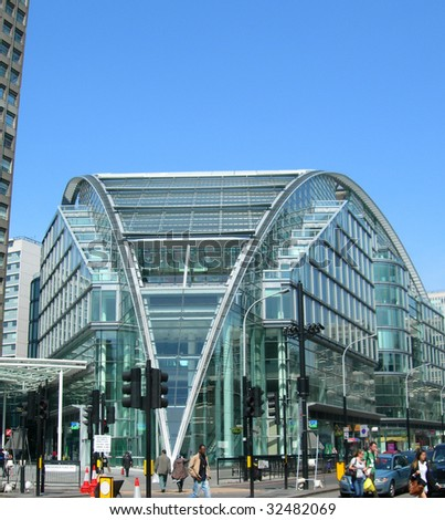 Contemporary office building in London, UK - stock photo