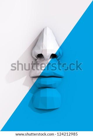 Contemporary Poster - stock photo