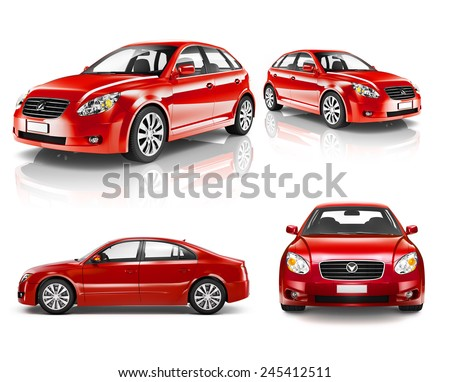 Contemporary Shiny Luxury Transportation Performance Concept - stock photo