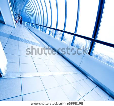 contemporary walkway - stock photo