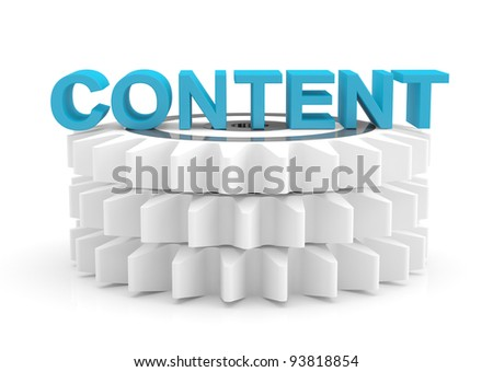 Content computer concept. 3D icon - stock photo