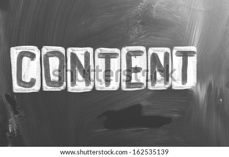 Content Concept - stock photo