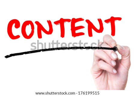 Content handwritten on glass  - stock photo