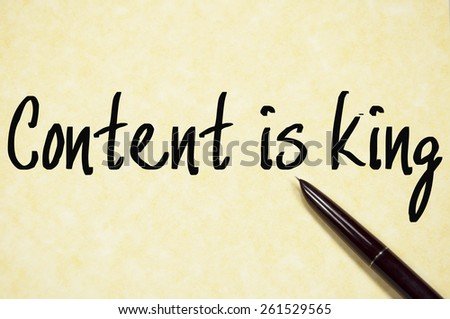 content is king text write on paper  - stock photo