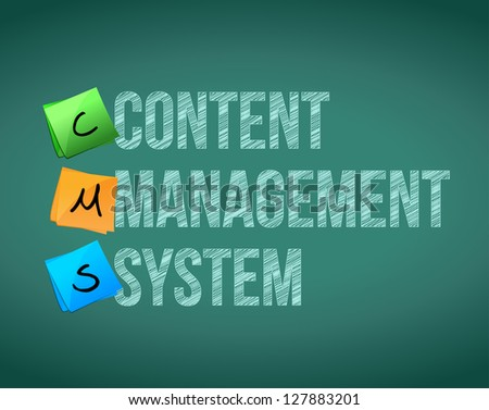 Content Management System illustration design over a white background - stock photo
