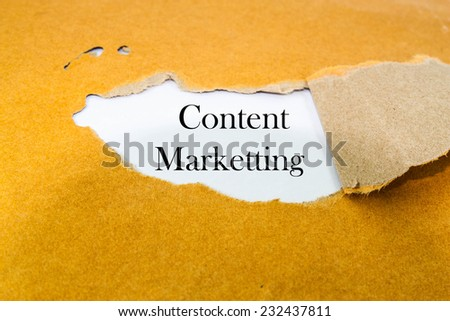 Content marketing  - stock photo
