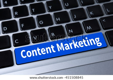 content marketing a message on keyboard