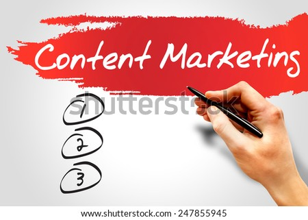 Content Marketing blank list, business concept - stock photo