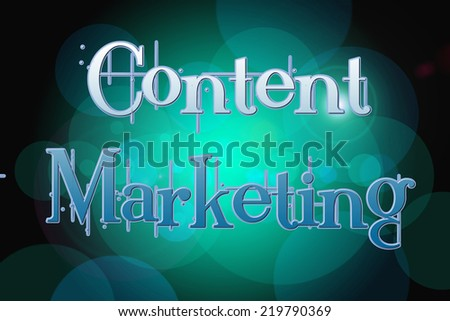 Content Marketing Concept text on background