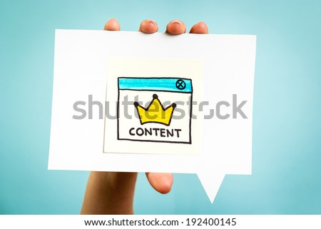 Content marketing is king, online concept. - stock photo