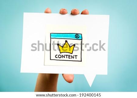 Content marketing online concept - stock photo