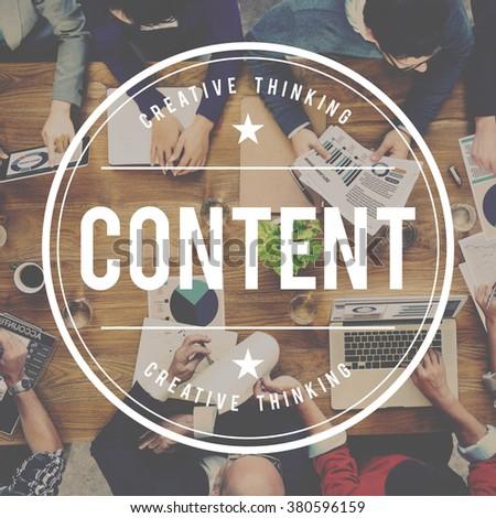 Content Social Media Sharing Data Concept - stock photo