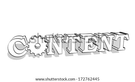 content text - stock photo