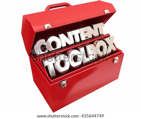 Content Tools Online Information Audience Words 3d Illustration