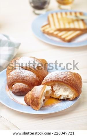 Continental breakfast - stock photo