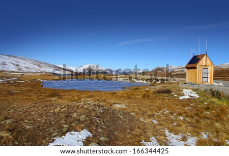 Continental divide - stock photo