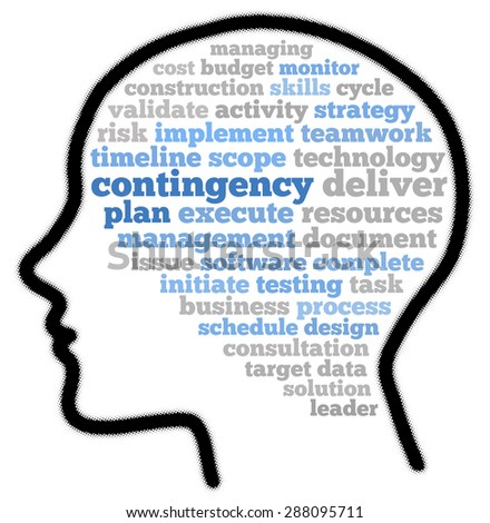 Contingency plan in word cloud concept - stock photo