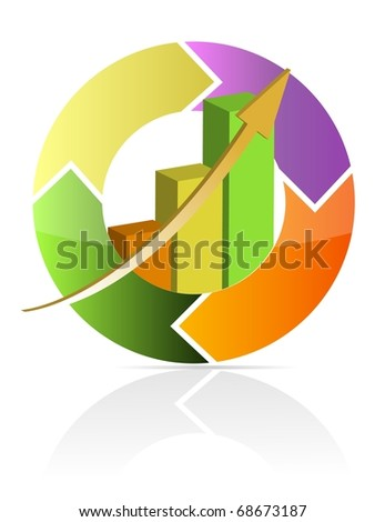 Continuous business move - stock photo