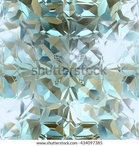 Continuous   crystal pattern