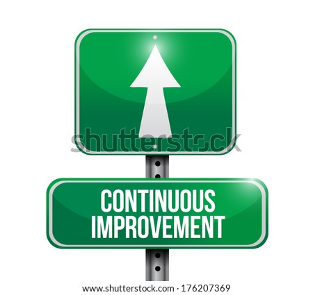 continuous improvement sign illustration design over a white background - stock photo