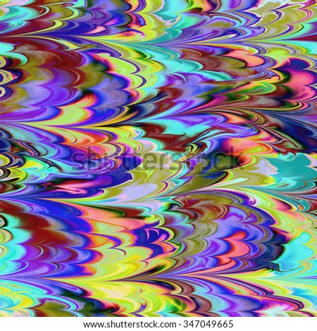 Continuous  marbling paper pattern   - stock photo