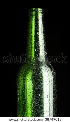 Contours bottle wine - stock photo