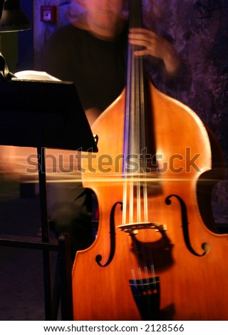 contrabass player at theatre