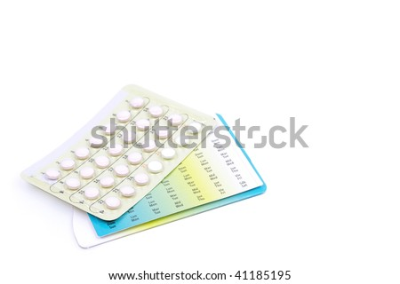 Contraception pills in pack - stock photo