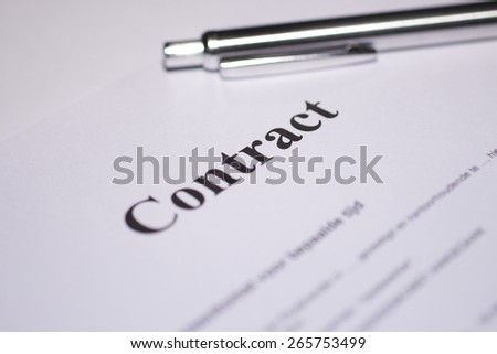 Contract - stock photo