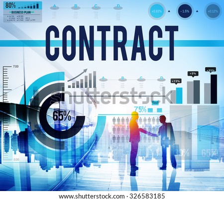 Contract Agreement Deal Bargain Partnership Concept - stock photo