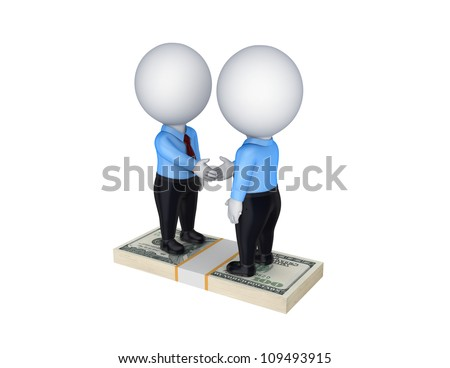 Contract concept.Isolated on white.3d rendered. - stock photo