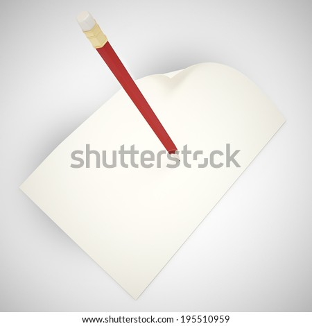 contract concept paper and pencil - stock photo