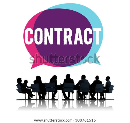 Contract Deal Agreement Negotiation Commitment Concept - stock photo