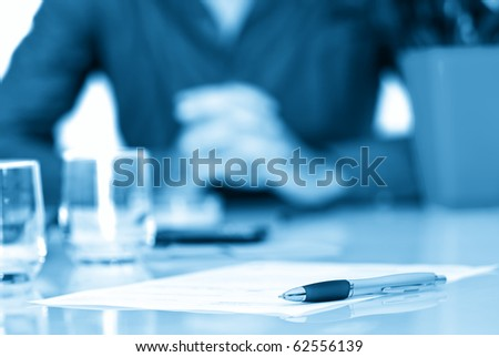 Contract in a business office - stock photo