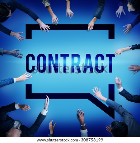 Contract Legal Occupation Partnership Deal Concept - stock photo