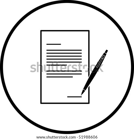 contract or legal form symbol - stock photo