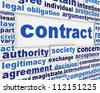 Contract poster concept. Legal agreement message conceptual design - stock vector
