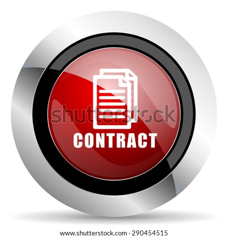 contract red glossy web icon original modern metallic and chrome design for web and mobile app on white background   - stock photo