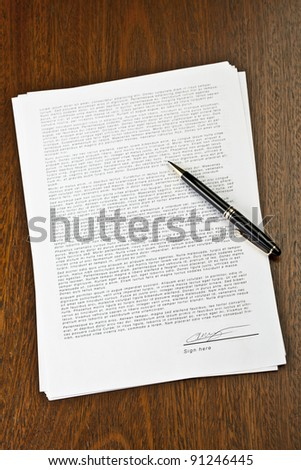 Contract signed - stock photo