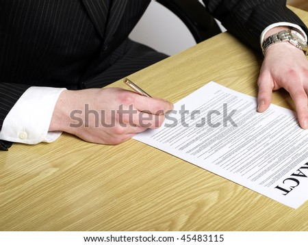 Contract signing. - stock photo
