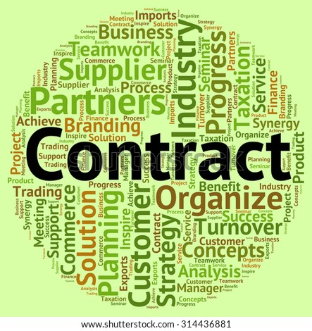 Contract Word Indicating Settlements Commitment And Understanding