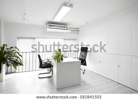 Contracted office - stock photo