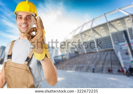 Contractor. - stock photo