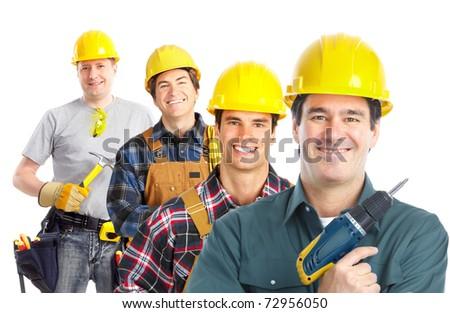 contractors workers people - stock photo